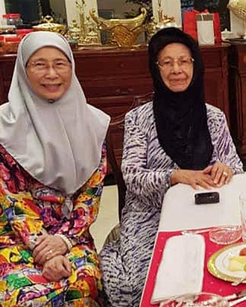 Siti Hasmah and Dr Wan Azizah