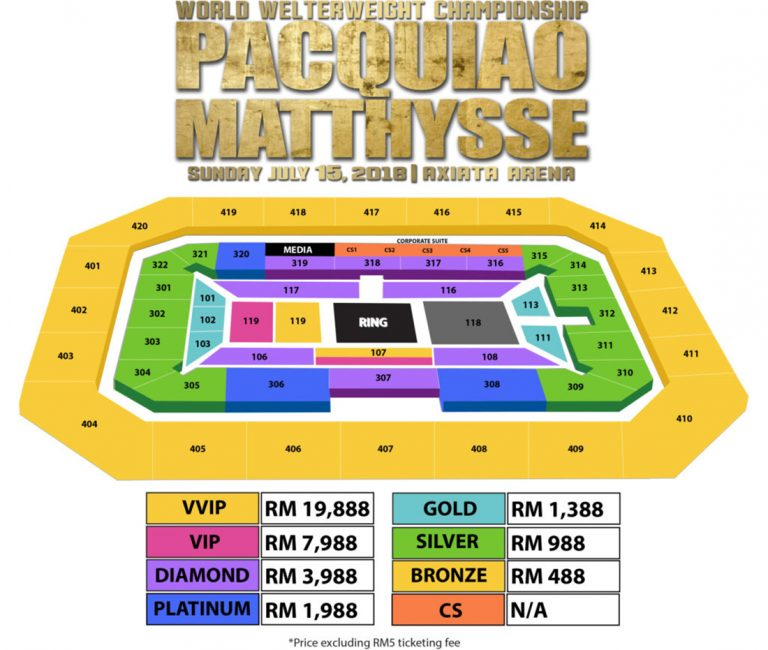 Pacquiao Malaysia ticket